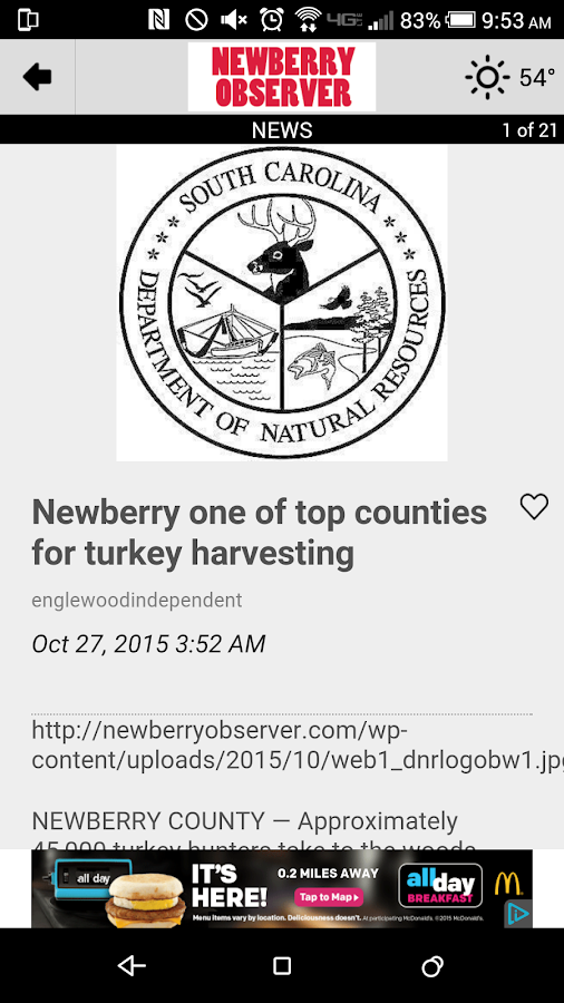 The Newberry Observer- screenshot