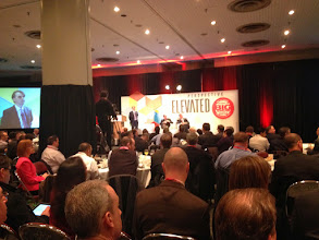 Photo: Standing room only at the NRF's 10th Annual Sunrise Breakfast, sponsored by Gartner.