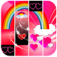 Rainbow Pink Heart Piano Tiles for PC-Windows 7,8,10 and Mac