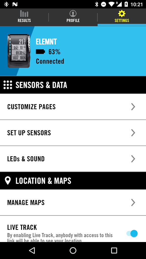ELEMNT- screenshot