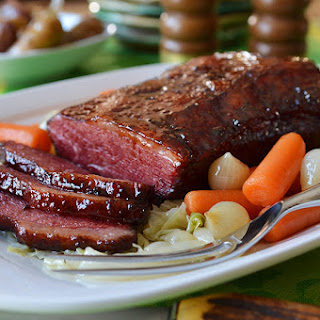 Corned Beef Brisket with Bourbon & Molasses Glaze.