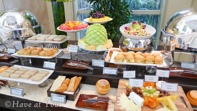 The Lobby's savory table