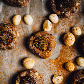 No-Bake Pumpkin Butter Thumbprint Cookies (Gluten Free, Vegan)