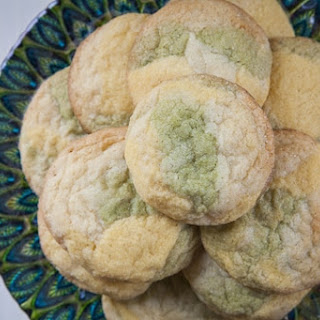 Passion Fruit & Green Tea White Chocolate Marble Cookies Recipe