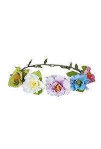 Blomsterkrans tunn, flerfärgad