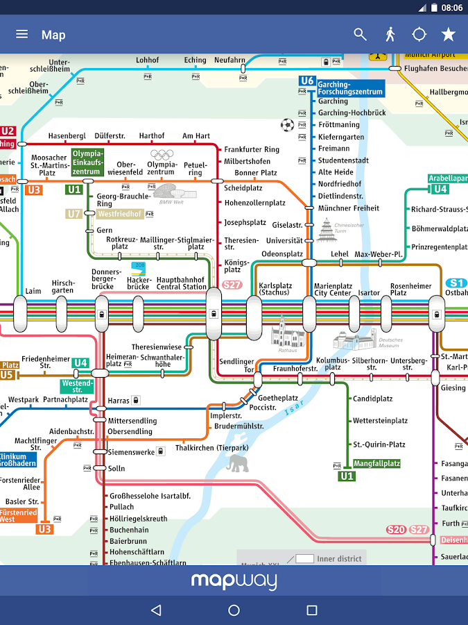 Munich metro mvg map and route planner android apps on google play munich metro mvg map and route planner screenshot ccuart Images