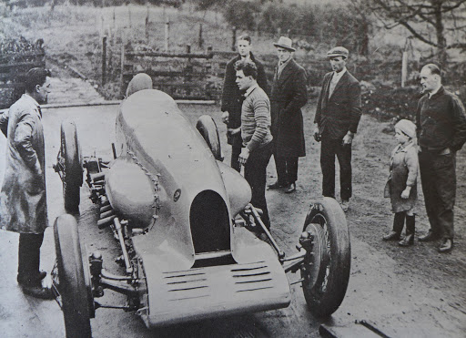The Bluebird at Pendine in 1927
