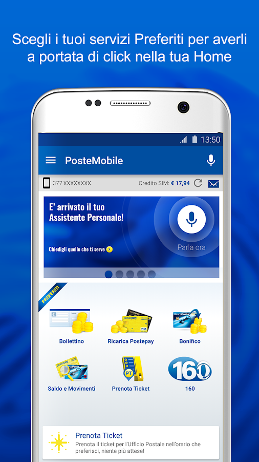 PosteMobile- screenshot