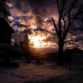 Winter sunset by Dawn Morri Loudermilk - Instagram & Mobile Other