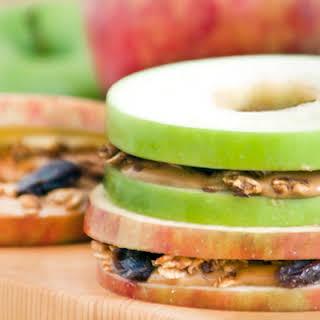 Mini Peanut Butter and Apple Sandwich.