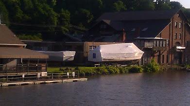 Photo: PT boat hulls waiting to be restored.