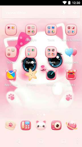 Cartoon Theme - Cute Kitty 1.0.3 screenshots 2