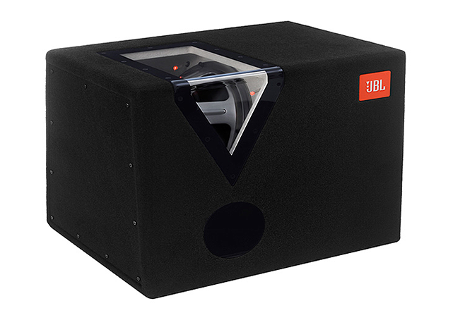 Subwoofer car audio en recinto paso banda JBL