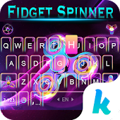 Fidget Spindle Keyboard 3D Theme