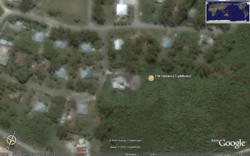 Photo: Google Earth Satellite photo Saipan Lighthouse