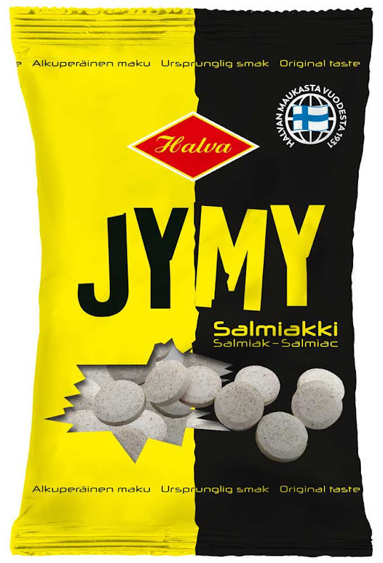 Jymmy - salmiakpuckar - Halva Lakrits