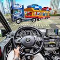 US Police CyberTruck Car Transporter: Cruise Ship icon