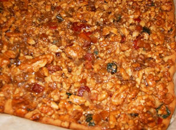 Spicy Topped Fruit And Walnut Bars Recipe