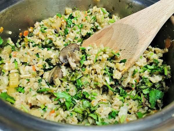 Parsleyed Brown Rice