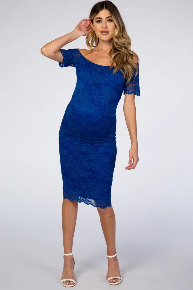Royal Blue Maternity Dresses