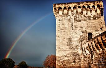 Photo: Arc en ciel sur le Pont d'Avignon Better on www.vbonnefond.fr