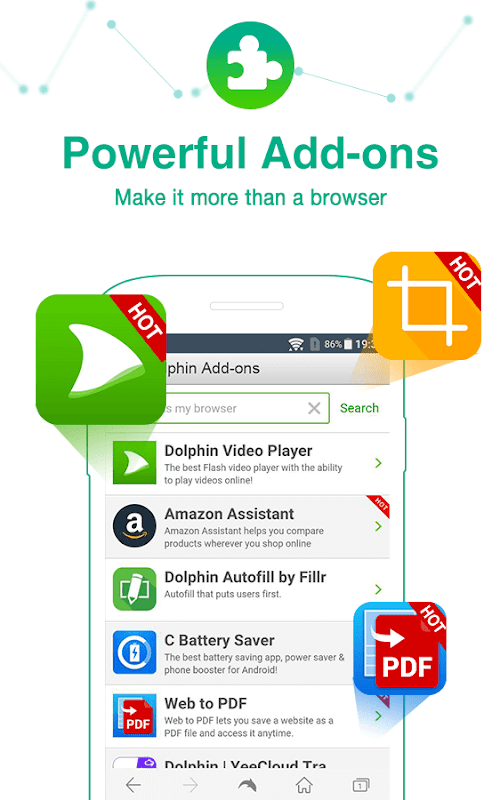 Dolphin Browser - Fast, Private & Adblock🐬 screenshots