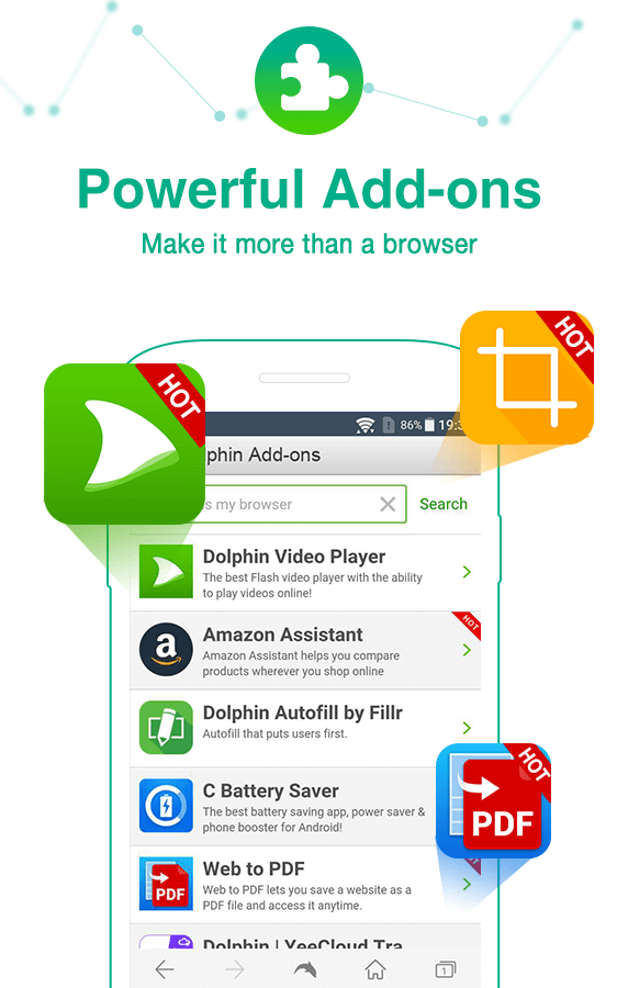 Dolphin Browser - Fast, Private & Adblock🐬- screenshot