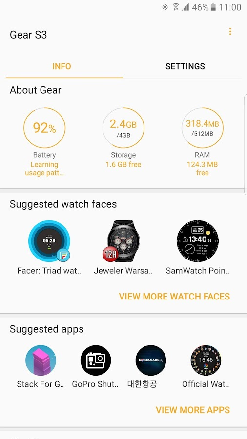 Samsung Gear- screenshot