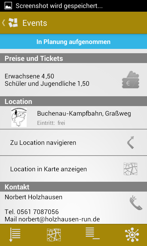 EventWalker – Screenshot