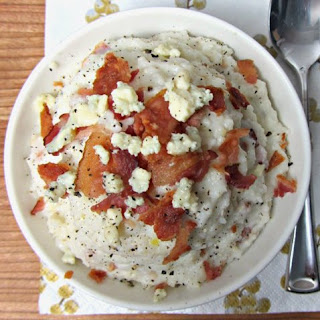 Bacon and Blue Cheese Grits