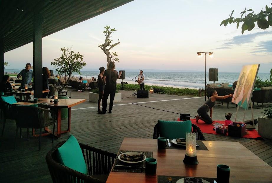 Alila Seminyak beachfront restaurant