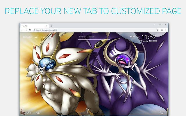 Pokemon Sun and Moon HD Wallpapers New Tab Themes