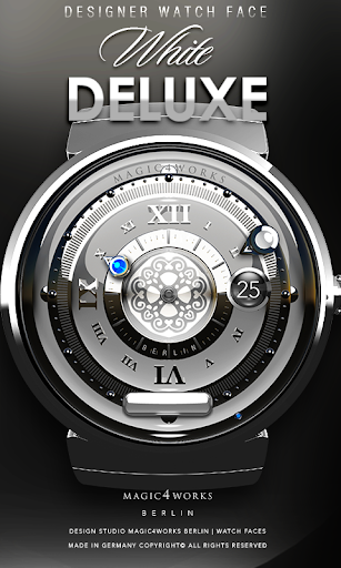 White Deluxe Watch Face
