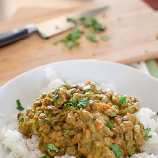 Coconut Green Lentil Curry.