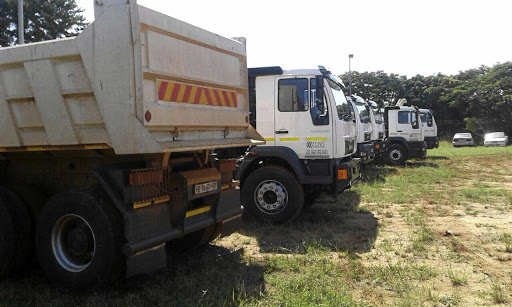 Police intercepted eight trucks with no papers in Mashau village outside Thohoyandou, Limpopo, at the weekend and arrested a man who could not produce papers for the vehicles. / SUPPLIED