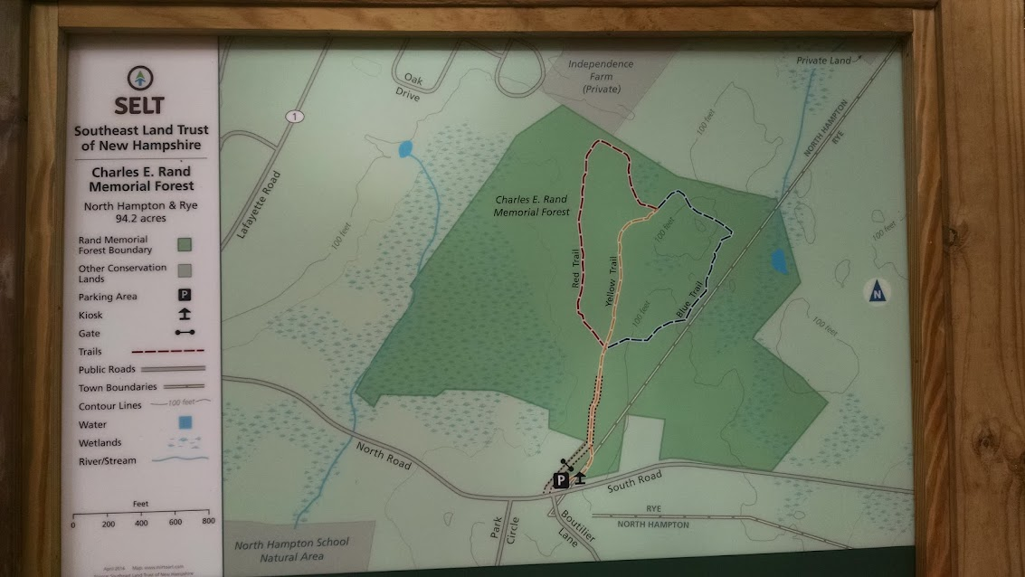 Charles E. Rand Memorial Forest - North Hampton, NH Trail Map