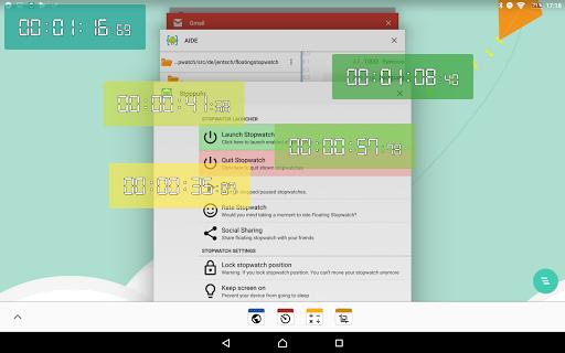 Floating Stopwatch, free multitasking timer 3.2.7 screenshots 12