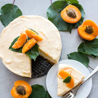 Fresh Apricot Double Layer Cream Dessert.