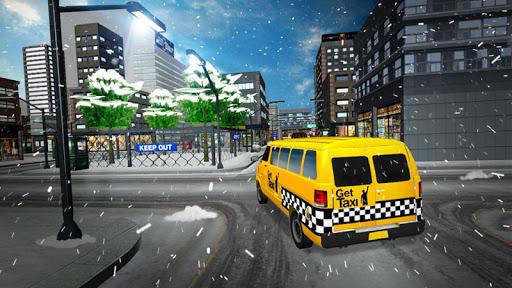 Snow City Taxi Driver Rush 3D