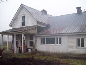 Photo: Before and 'after pics of the Phoenix Farmhouse. Built in 1875, it had slid into ruin. Over a nine-month period Chris and Llyn did all remodeling/painting ourselves. We've been living here since July, 2014