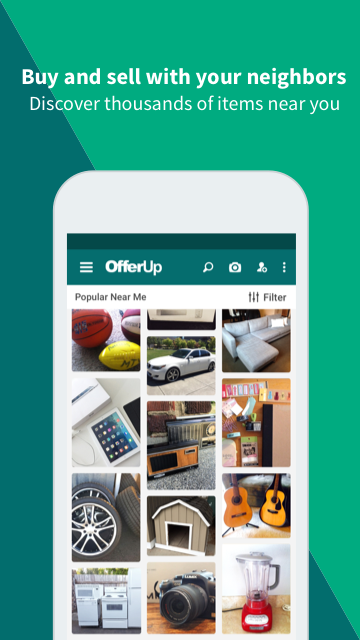 Screenshots of OfferUp - Buy. Sell. Offer Up for iPhone