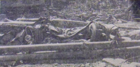 Photo: The remains of a new 1955 car