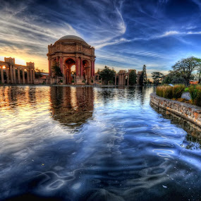 Palace of Fine Arts  by Josh Norem - Landscapes Waterscapes ( hdr, sunset, san francisco, palace of fine arts )