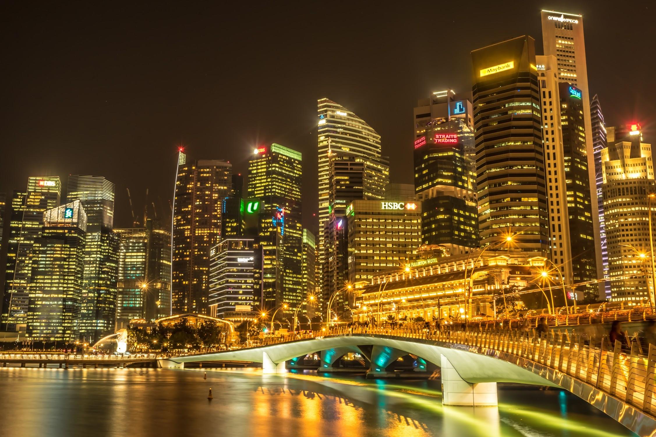 シンガポール フラトン・ホテル 夜景