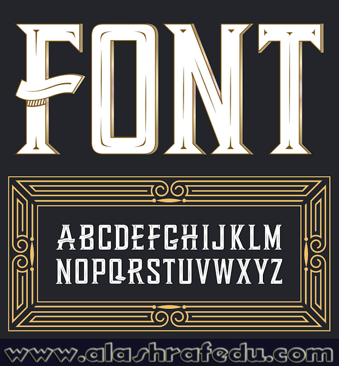 Label Font With Ornament XZCUaEDtdfB5enuVetcV