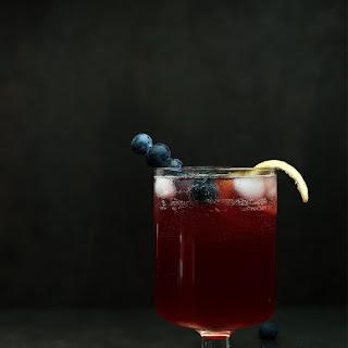 Blueberry Limoncello Cocktail.