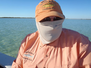 Photo: Steve Ford hiding from the sun on Andros Island with Mad River Outfitters