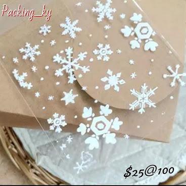 💕白色雪花透明包裝自粘袋