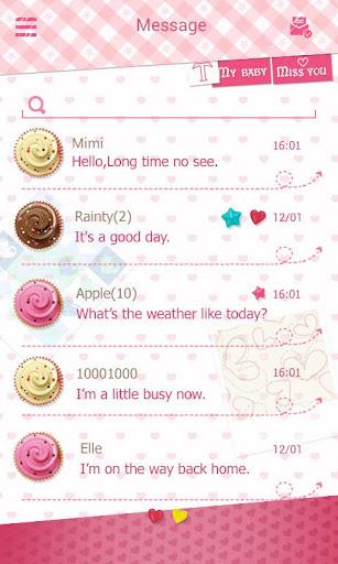 (FREE) GO SMS LOVE YOU THEME screenshot 3