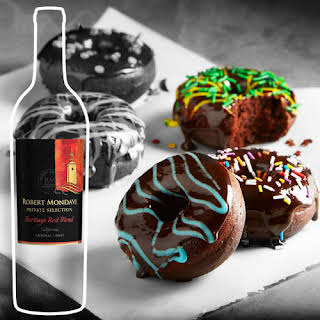 Double Chocolate Red Wine Doughnuts .